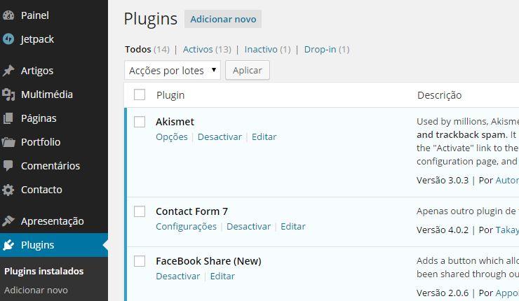 como fazer um blog -Plugins